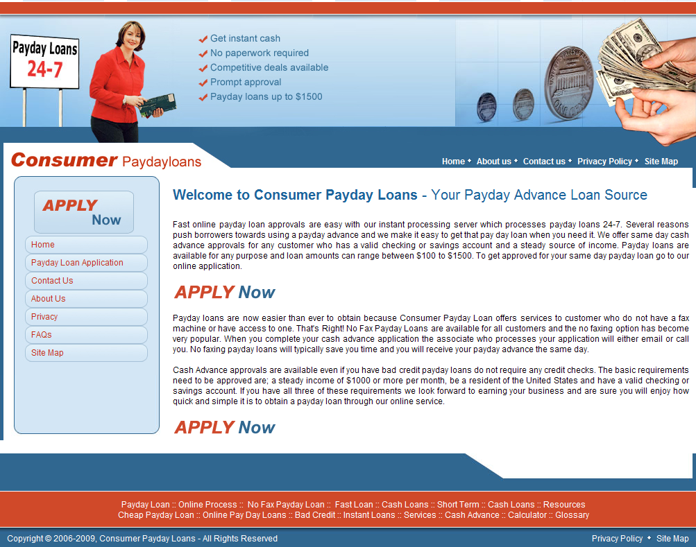 consumer payday loan