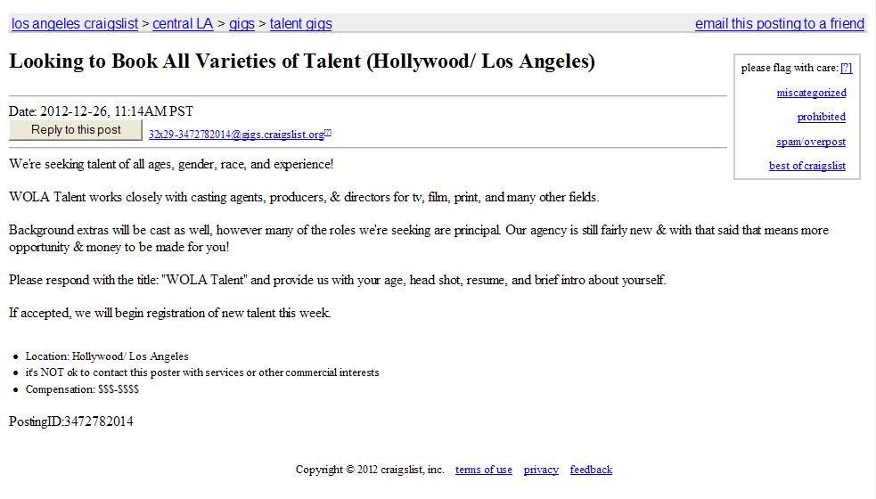 Craigslist dating Los Angeles