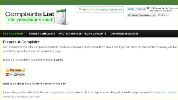 complaintslist