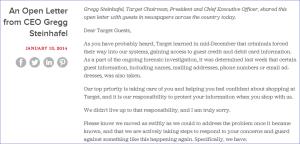 Target Chairman Letter